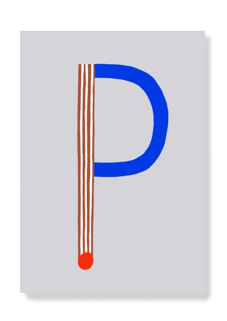 Postkarte - P