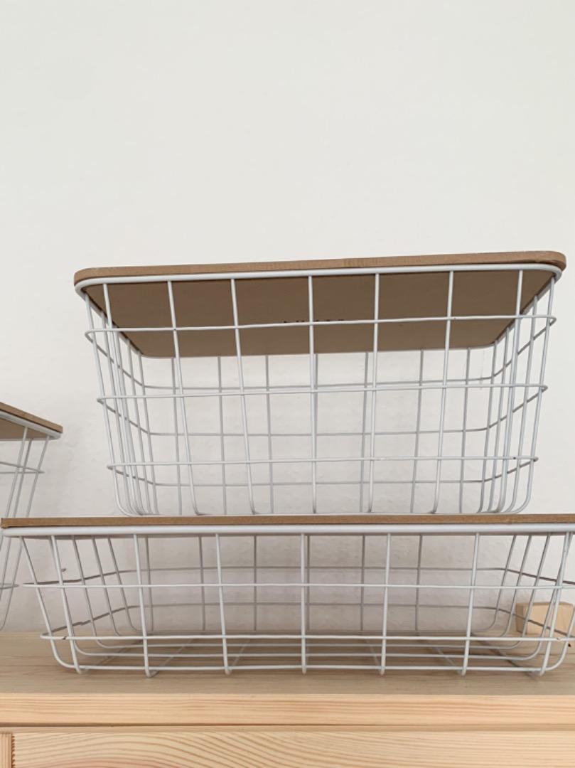 Basket - Metallinen weiß 2