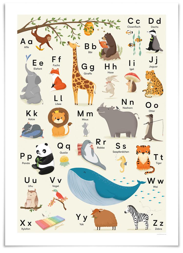 vierundfünfzig illustration - ABC Poster