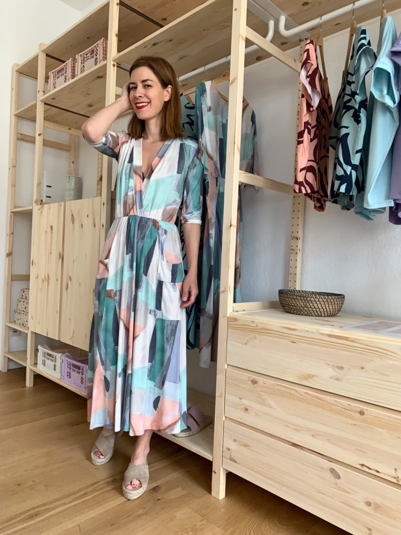 MIO ANIMO CLAIRE DRESS Jersey Pastell