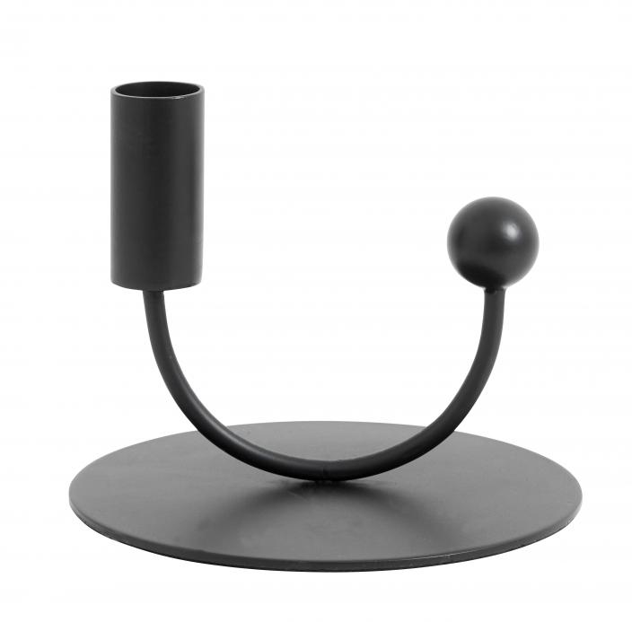 NORDAL - JUPITER candle holder black