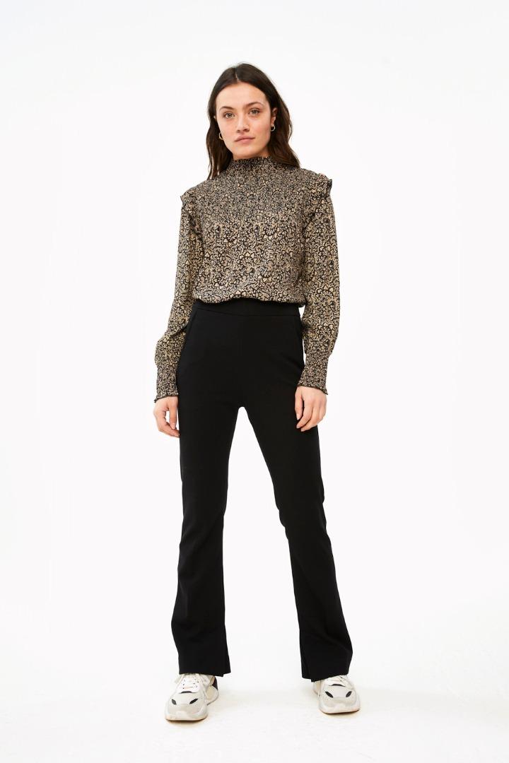 marcia paisley blouse - black