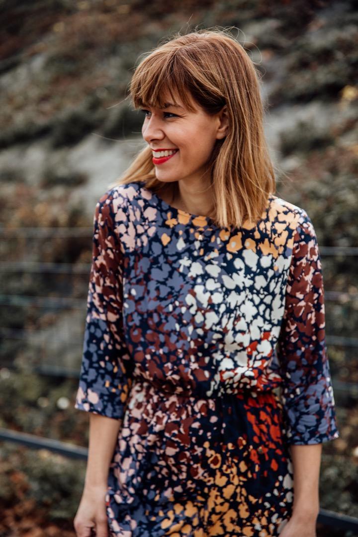 COCO FALL DRESS Blue Autumn 2