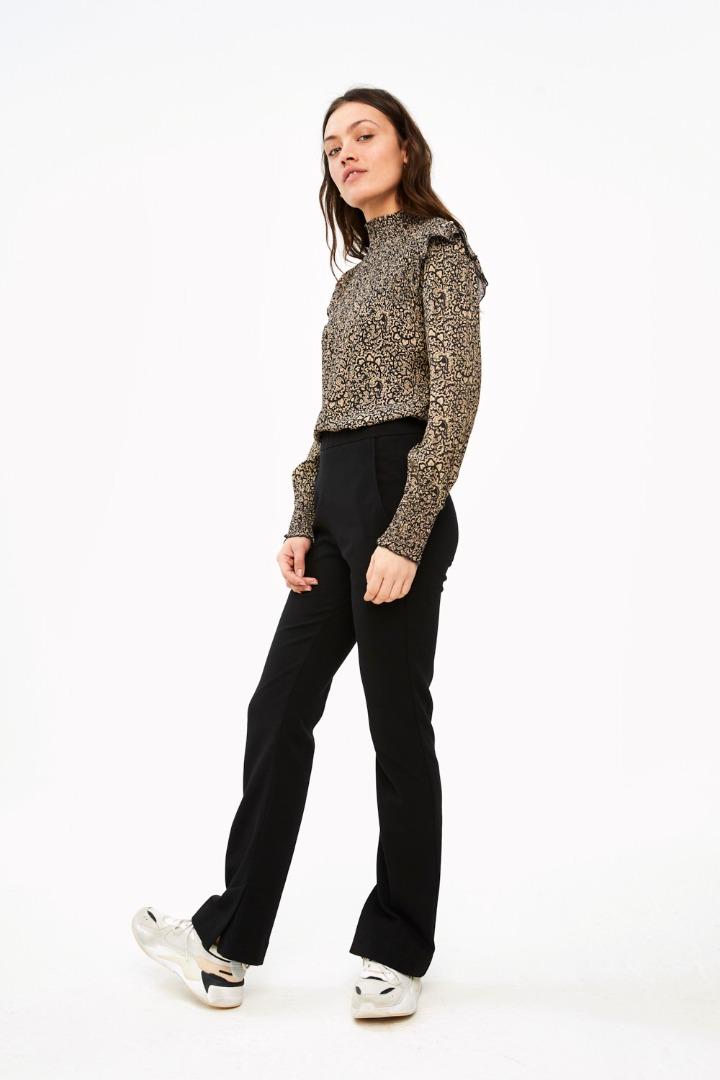 marcia paisley blouse - black 2