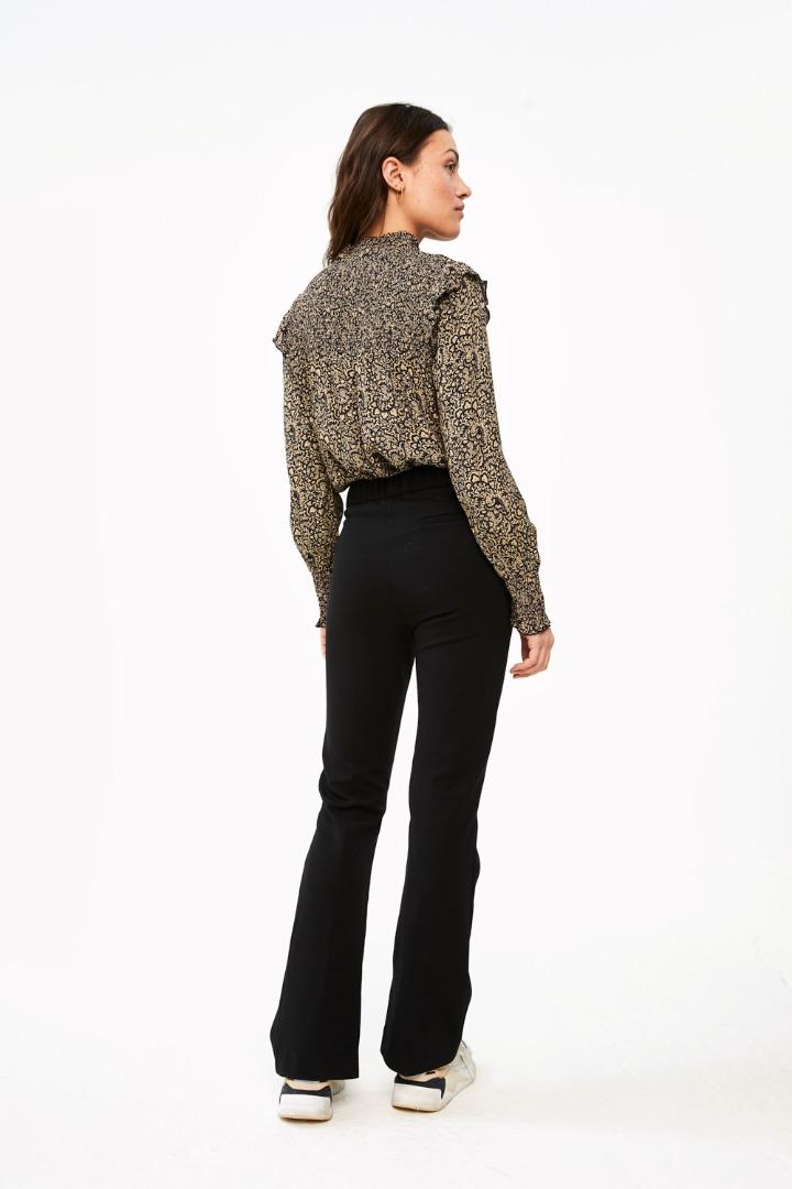 marcia paisley blouse - black 3