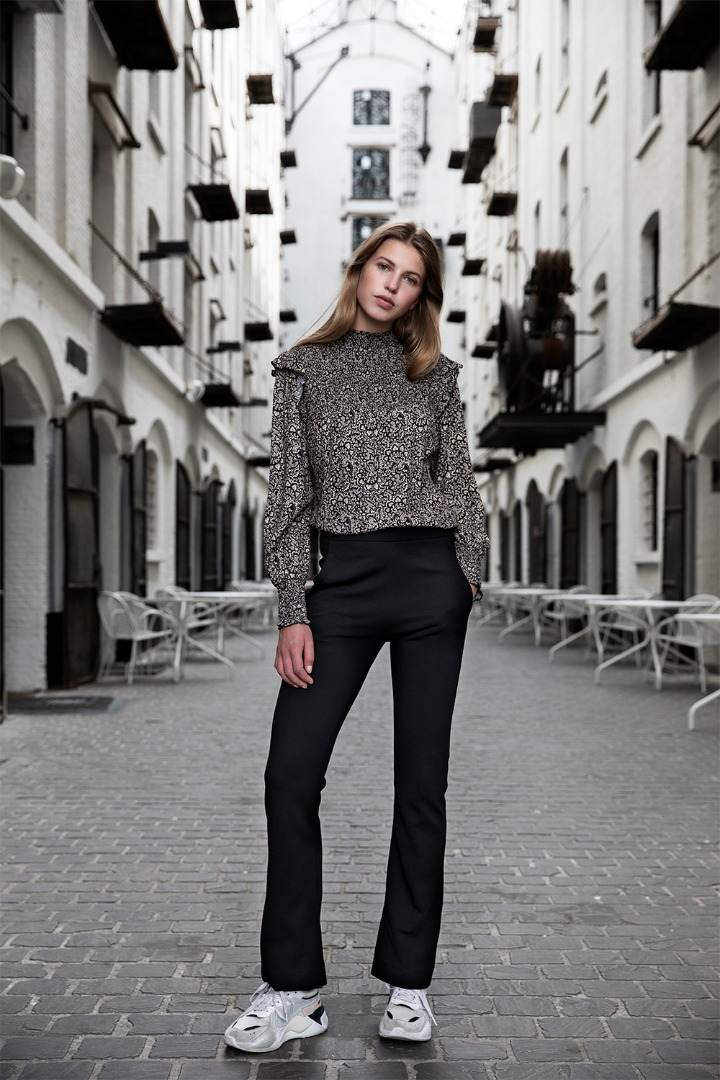 marcia paisley blouse - black 4