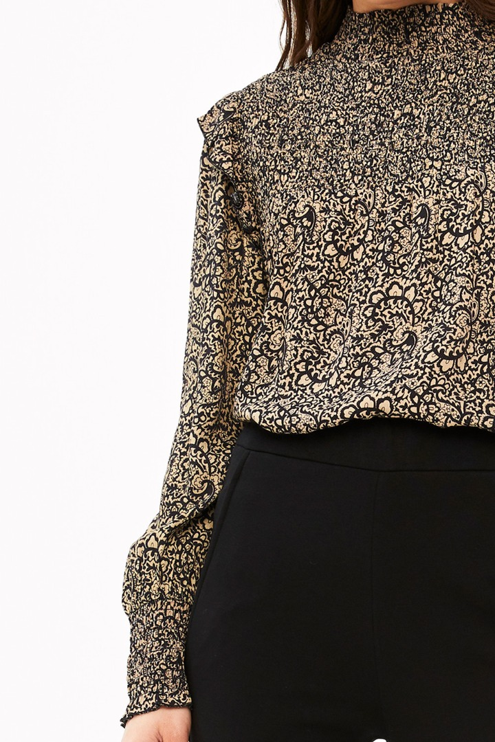 marcia paisley blouse - black 7