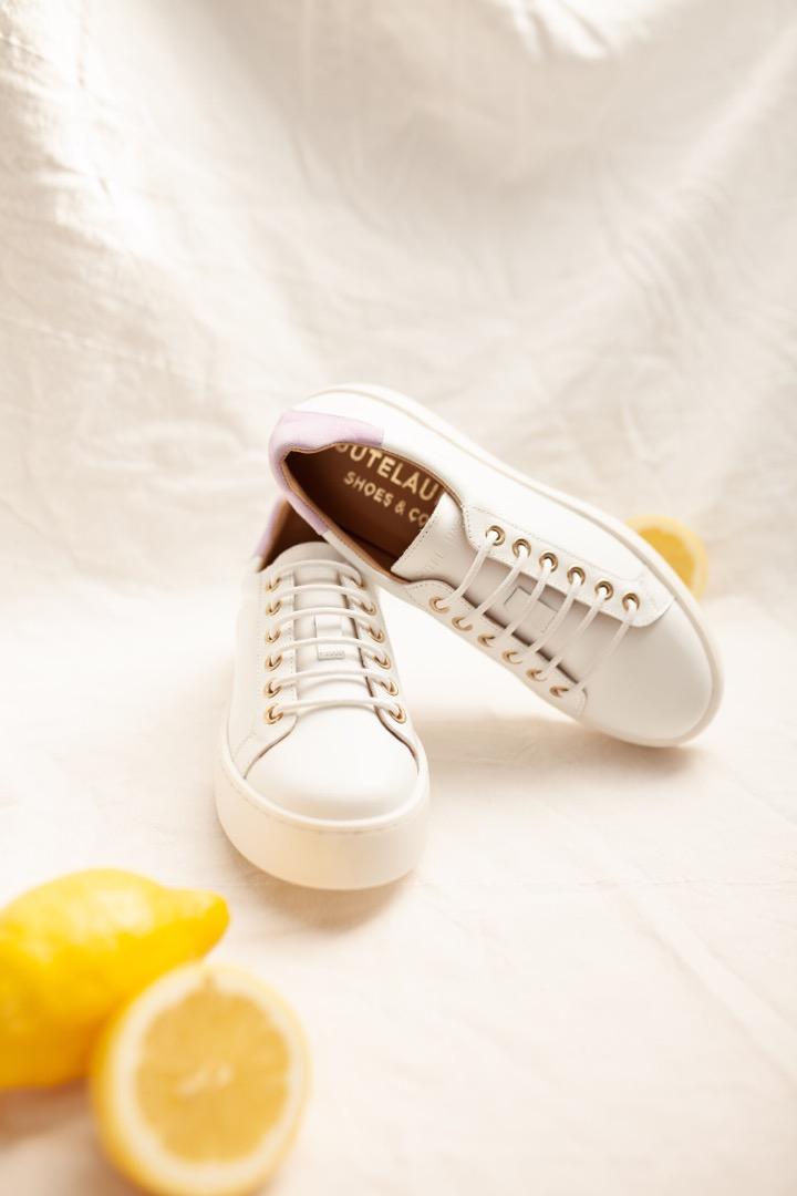TENNIS SNEAKER - white/lilac 2