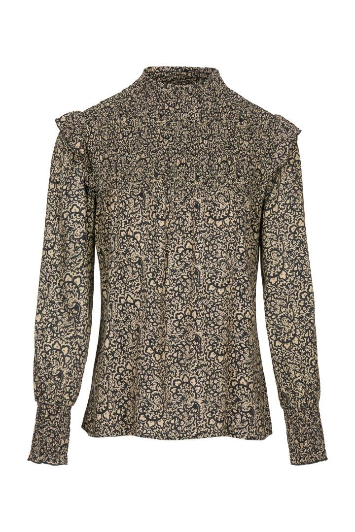 marcia paisley blouse - black 5