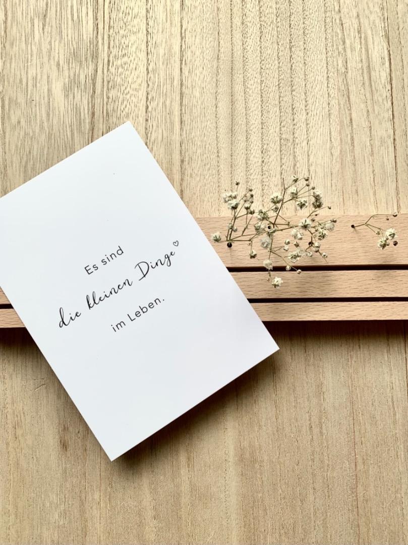 Eulenschnitt - Postkarte - Kleine Dinge