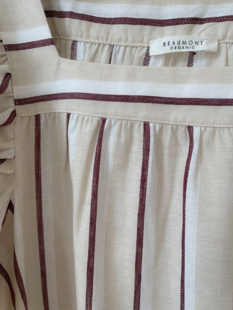 BEAUMONT ORGANIC - LESLEY-SUE-CREA-PLUM DRESS 3