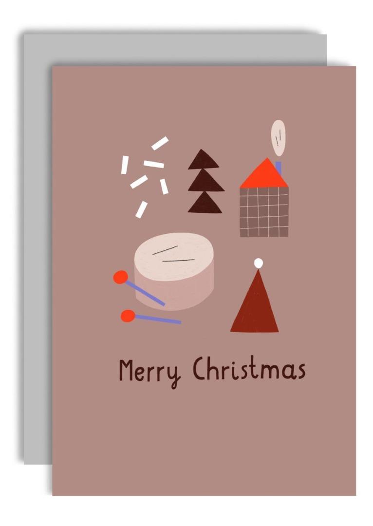 Klappkarte - Merry Christmas Drum