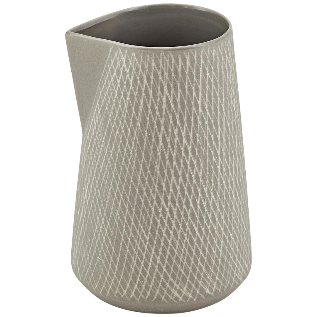 Kännchen CAROL Keramik grau 8x125cm
