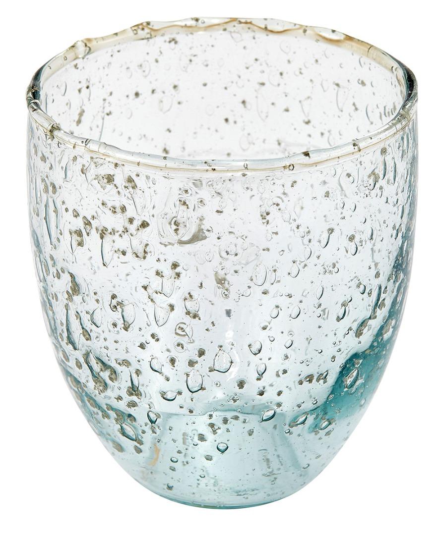 Trinkglas recyceltes Glas 9 cm