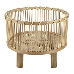 Bambuskorb auf Füßen