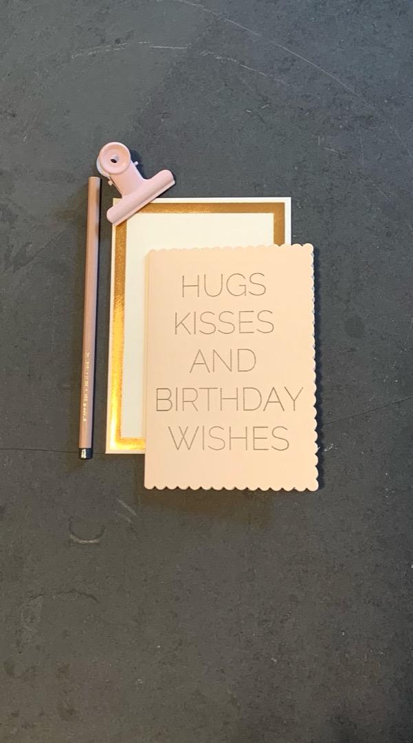 Klappkarte - HUGS&KISSES BIRTHDAY CARD