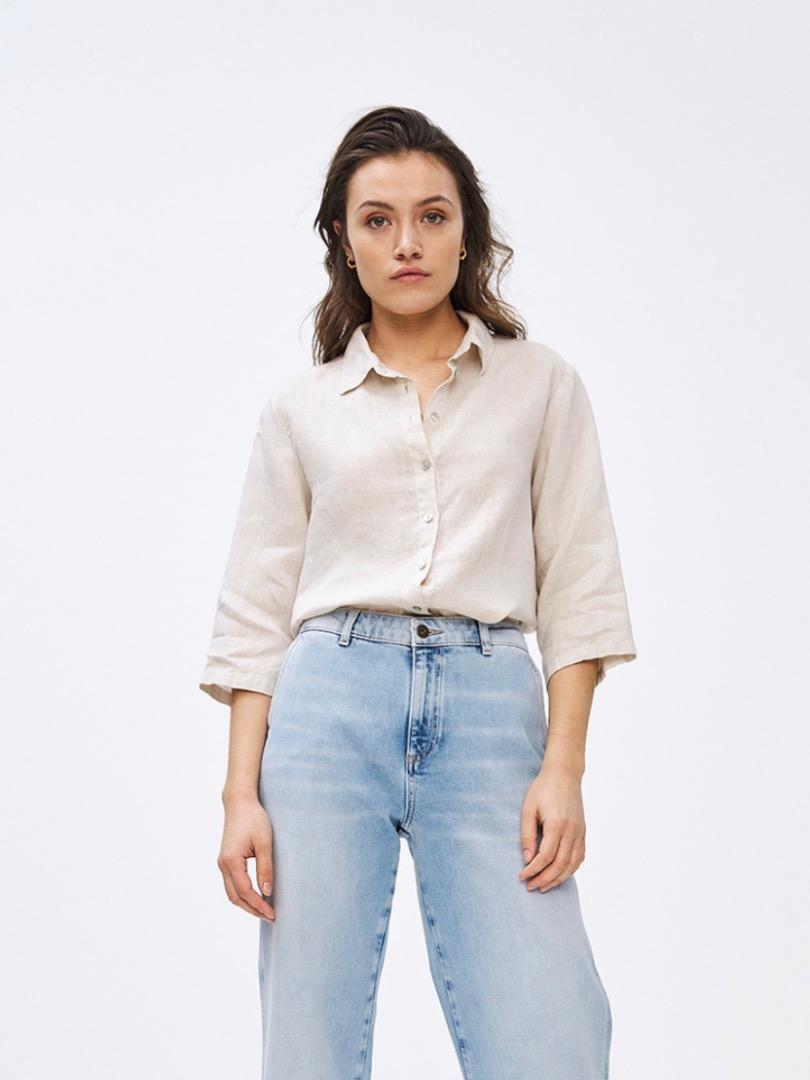 bodil linen blouse - linen 4