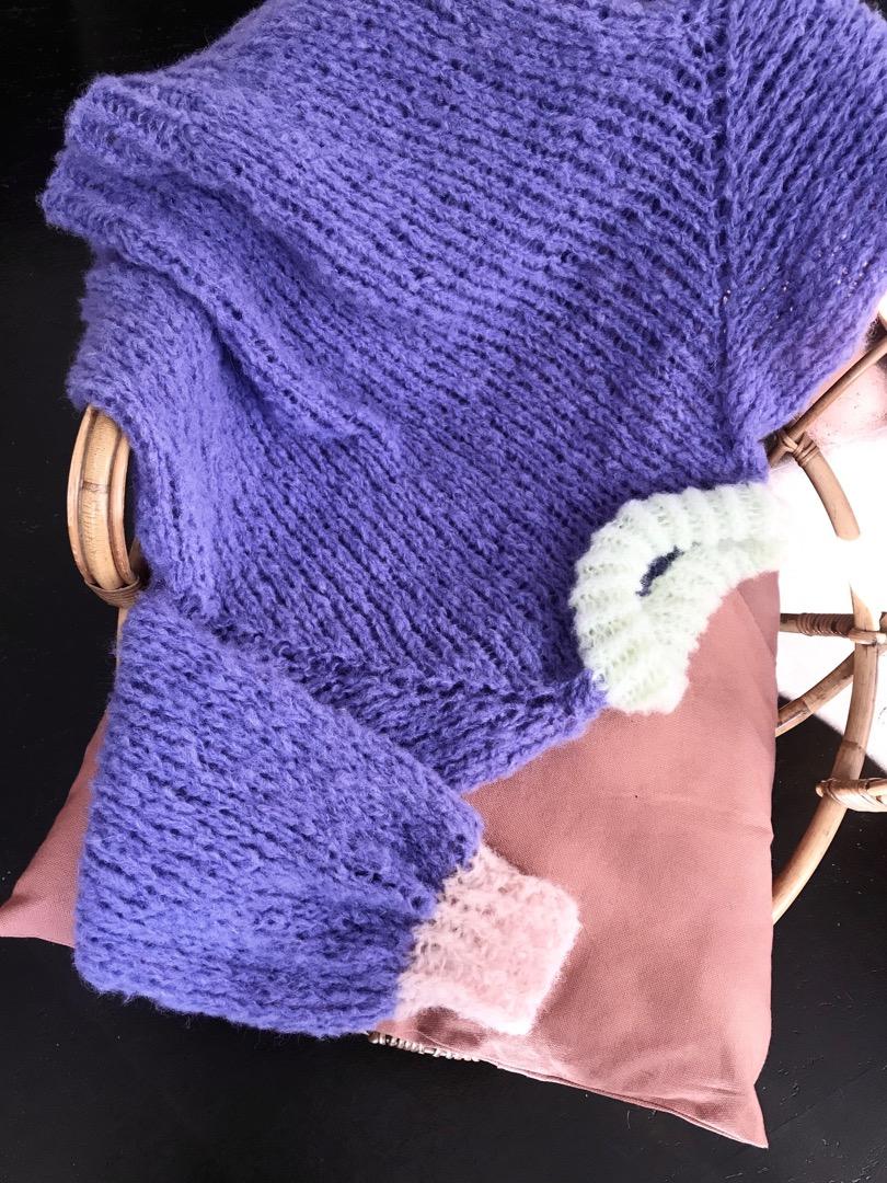 Handgestrickter Pullover XS/S 2