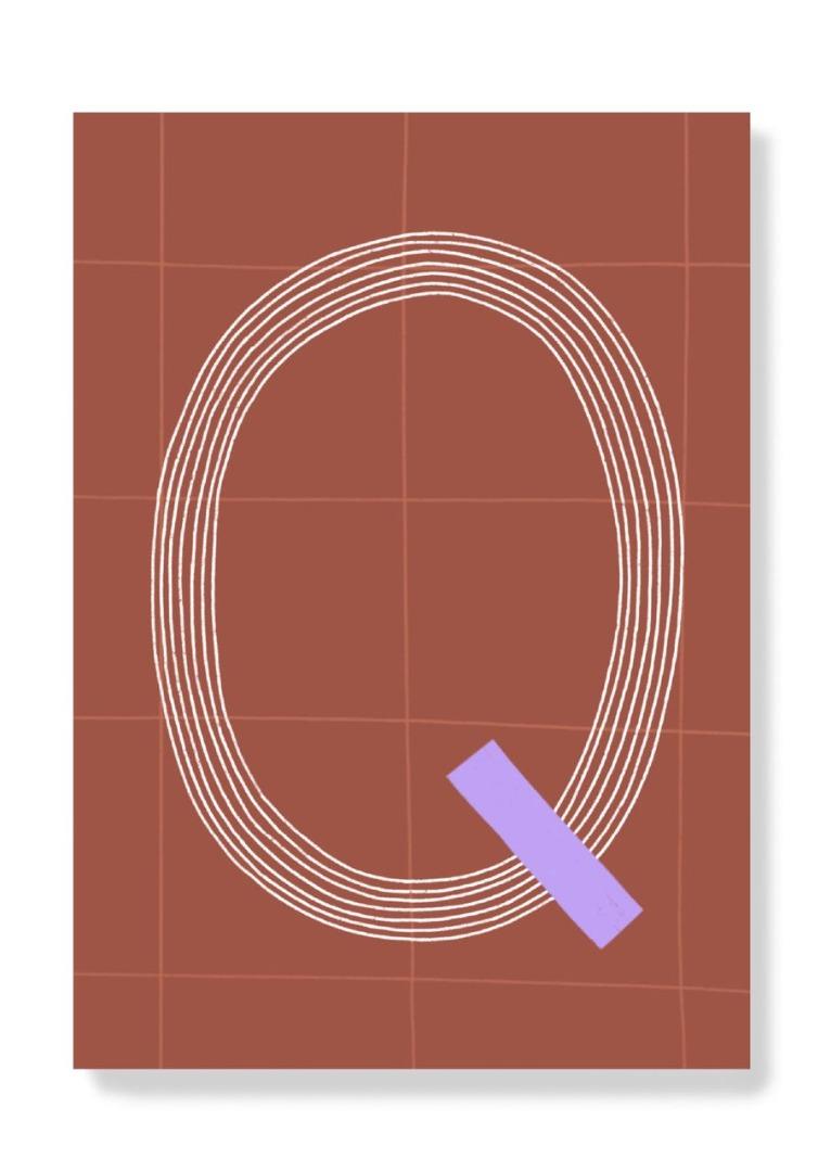 Postkarte - Q