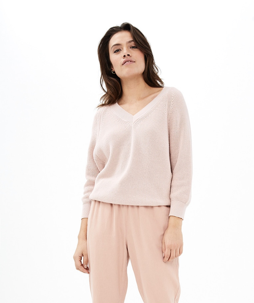 new lune pullover m - blush