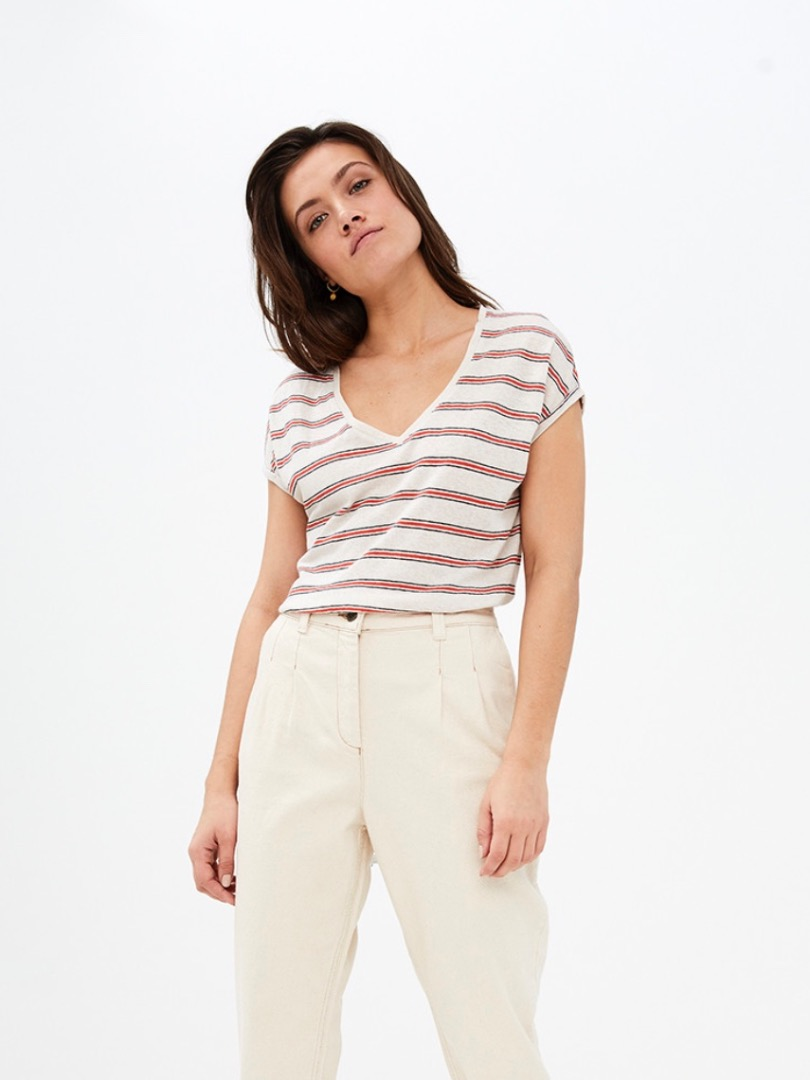mila linen stripe - pepper