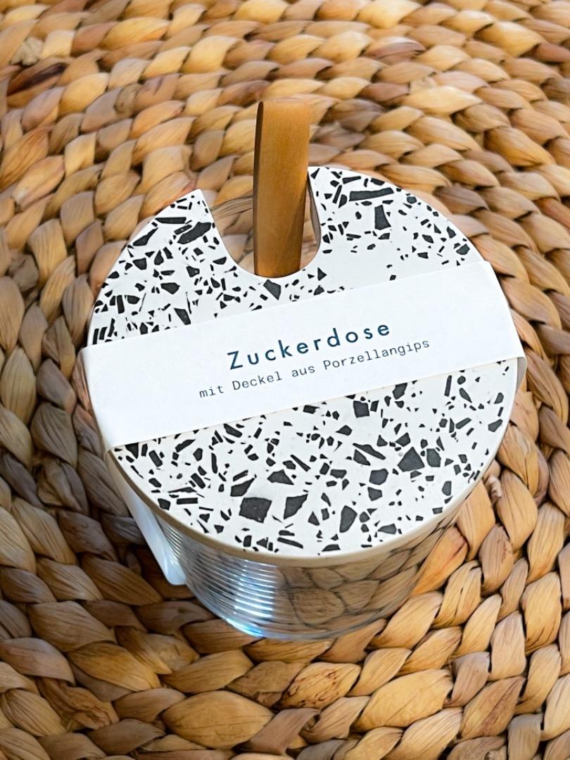 Objet Vague Zuckerglas mit Tarrazzo Deckel