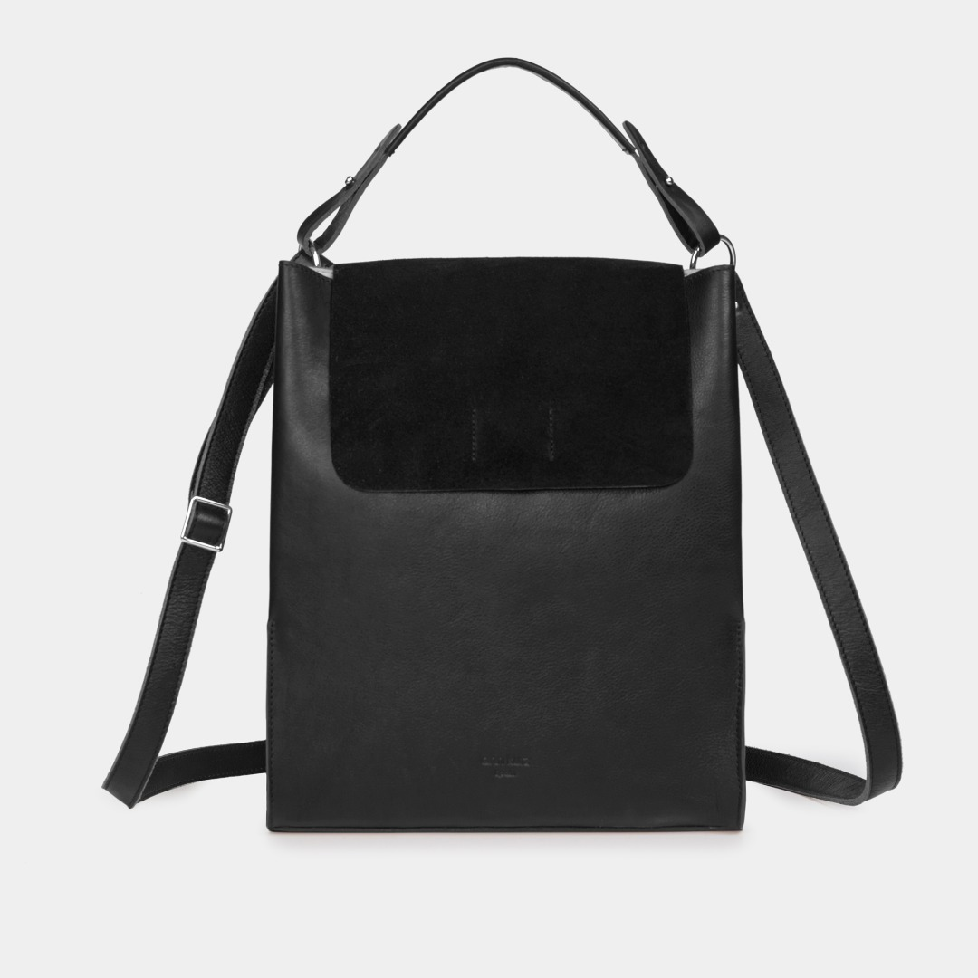 Alex Laptoptasche - Nappa/Suede Black
