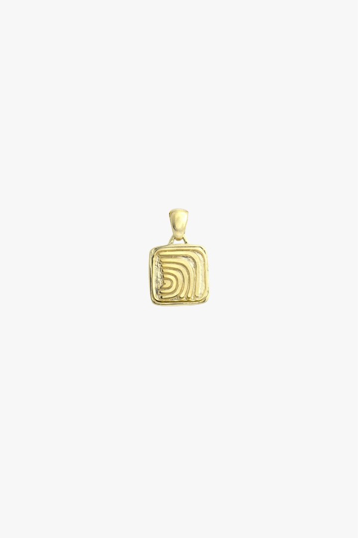 Waves pendant gold