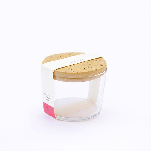 Kräuterglas mit Tarrazzo Deckel - ocker - 1