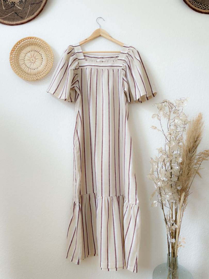 BEAUMONT ORGANIC - LESLEY-SUE-CREA-PLUM DRESS