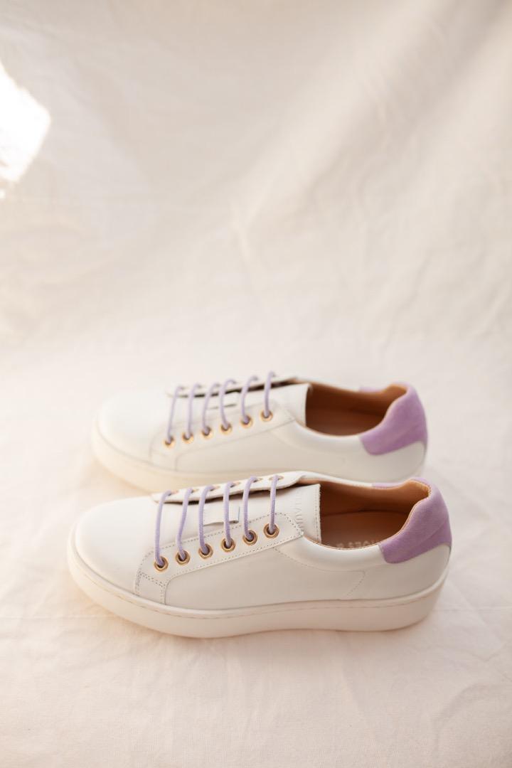 TENNIS SNEAKER - white/lilac 7