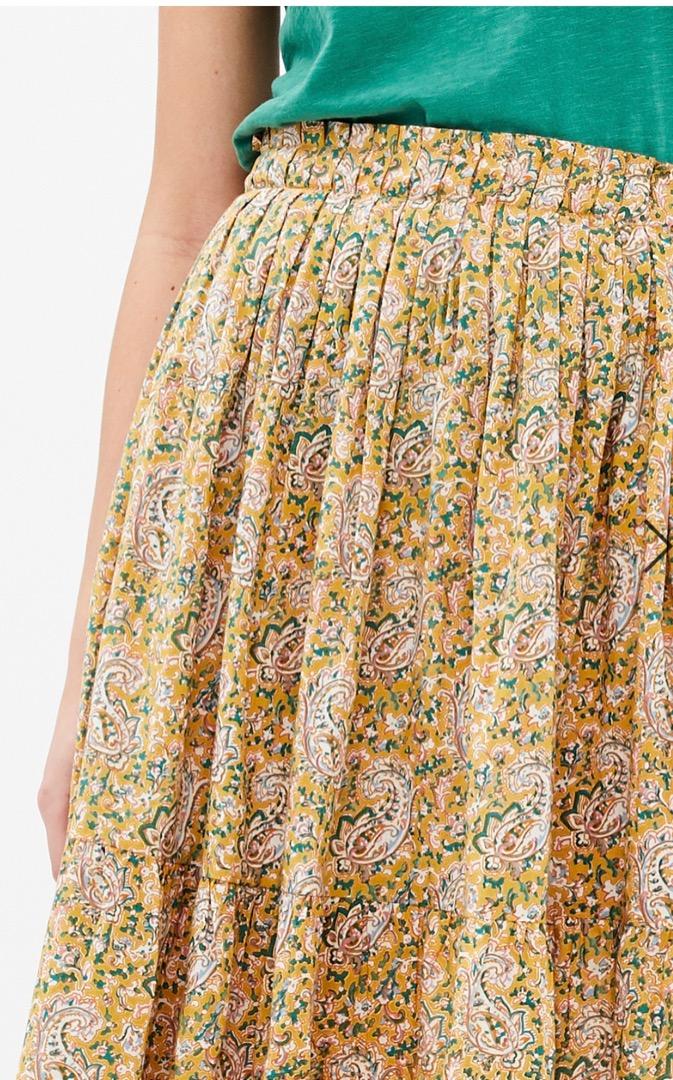 lien paisley skirt - straw 4