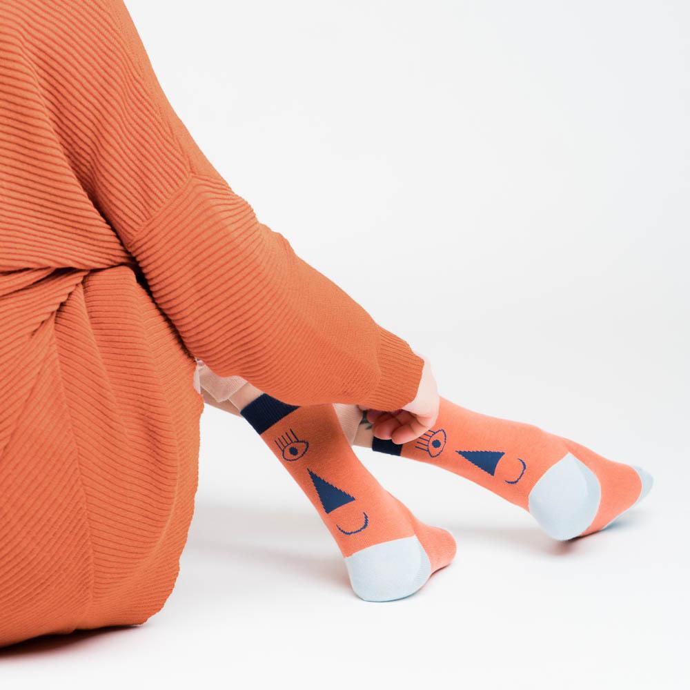 friendly socks | back face |