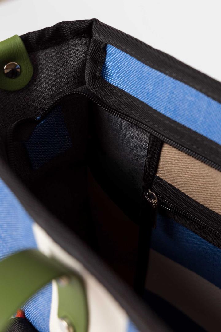 SKFK RECYCLED COTTON NERA blue stripes