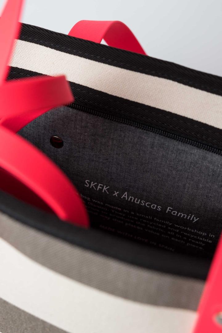 SKFK RECYCLED COTTON NERA grey stripes