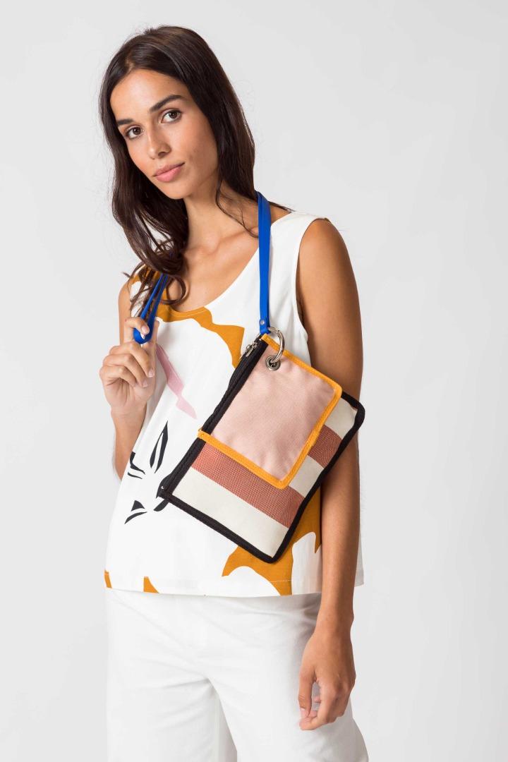 SKFK - NIRA BAG brown stripes
