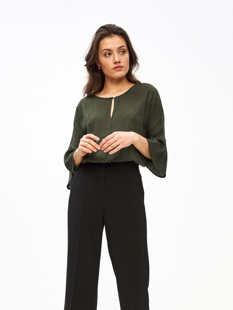 eef blouse - forest night