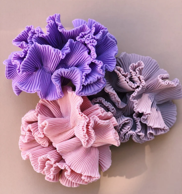 Scrunchies - classic orchid 2