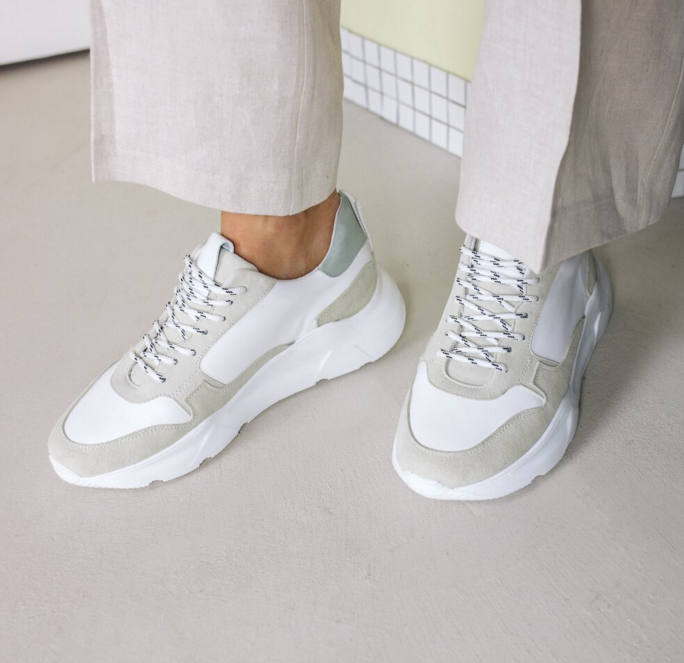 THE MANGO CHUNKY SNEAKERS - mint