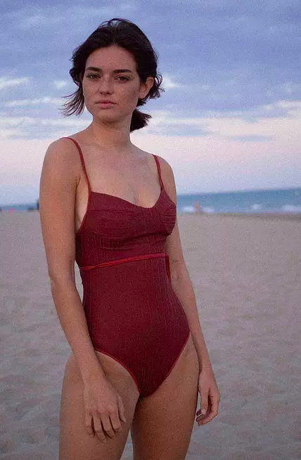 Clo Stories Colette ribbed reversible swimsuit