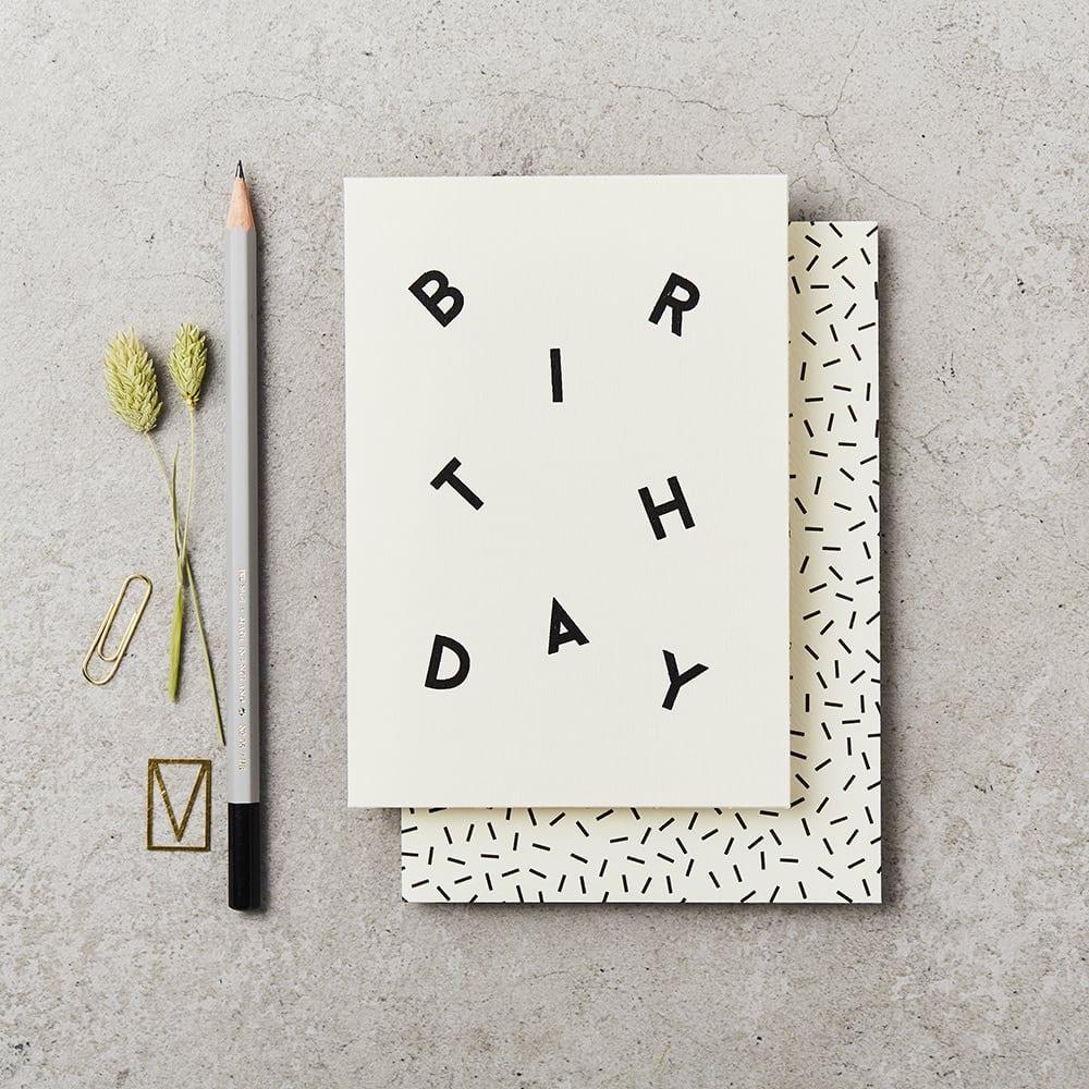 Klappkarte - BIRTHDAY SCATTER CARD