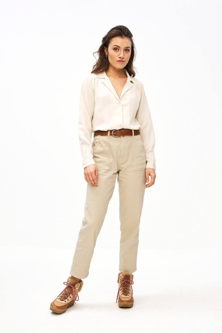 smiley twill pant - sand