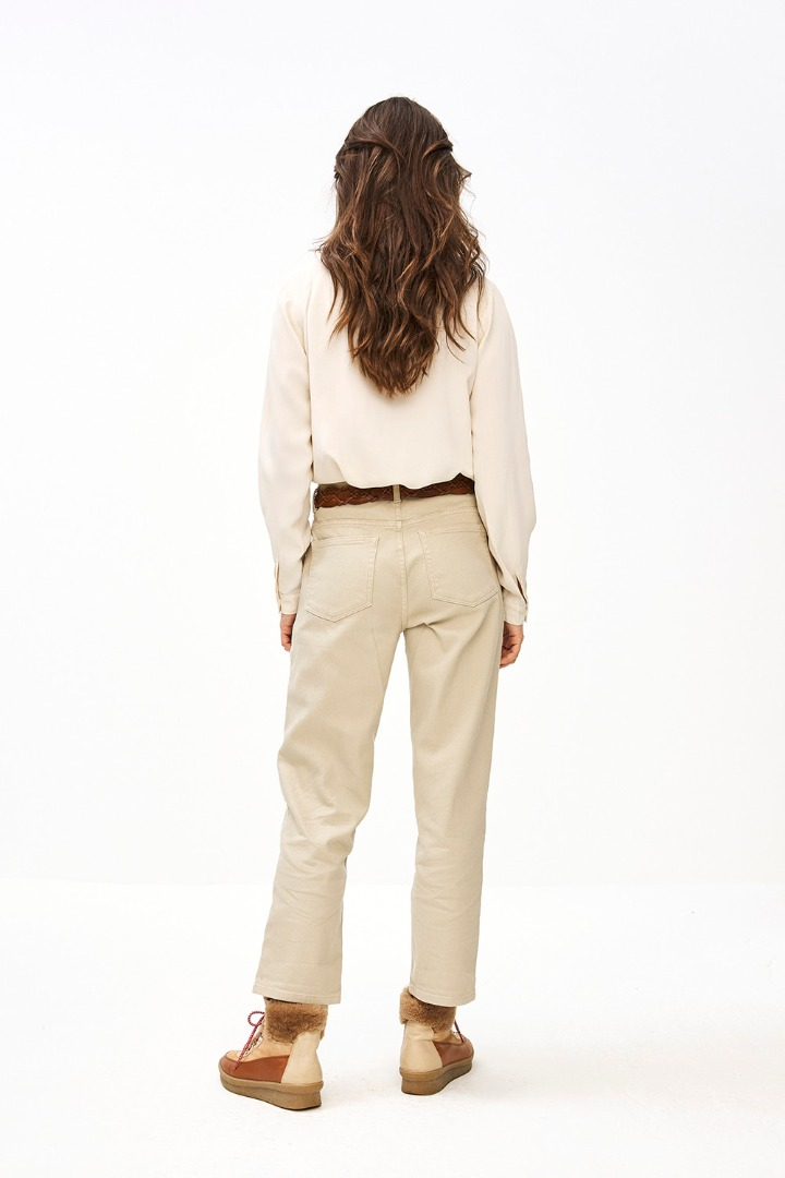 smiley twill pant - sand 2