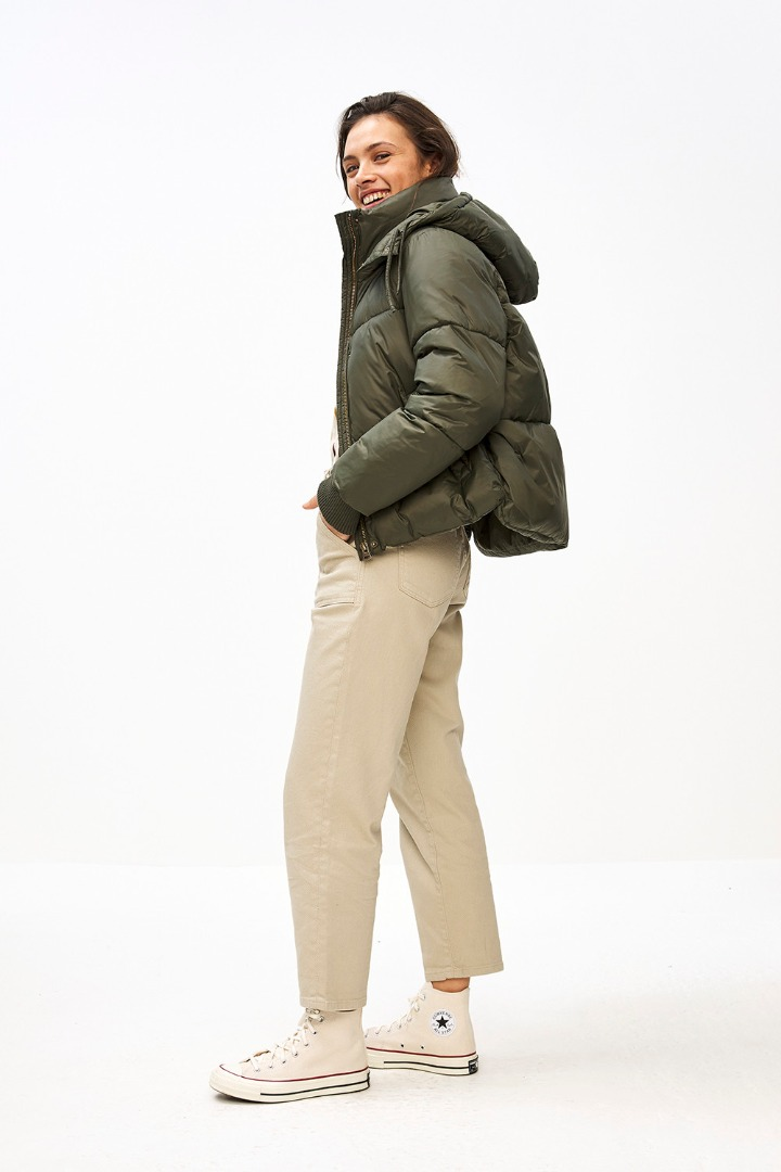smiley twill pant - sand 3