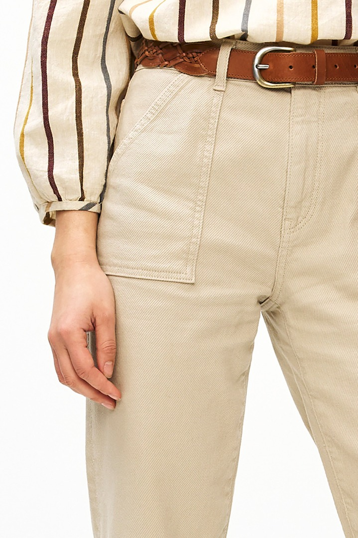 smiley twill pant - sand 6