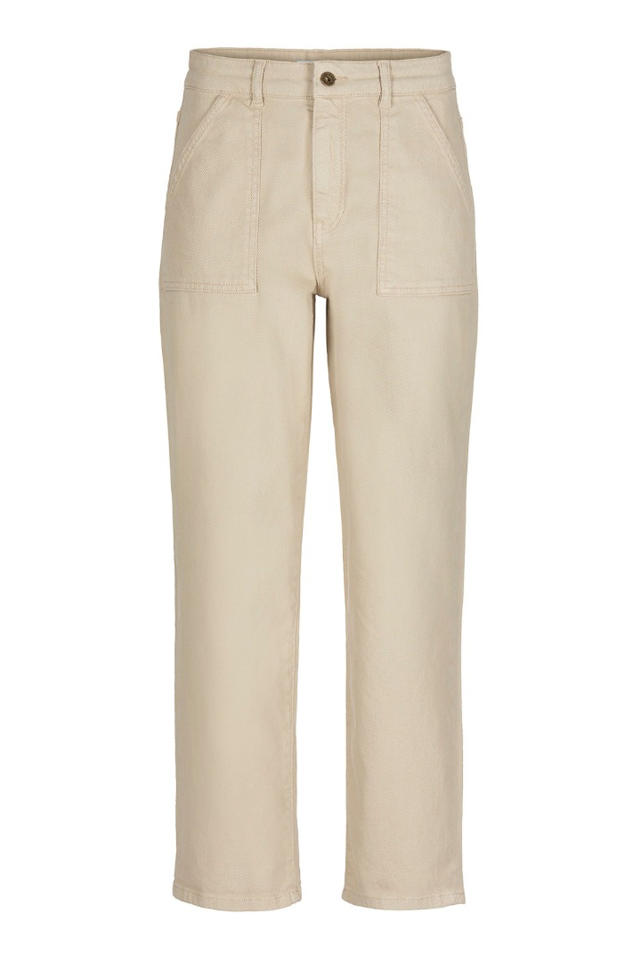 smiley twill pant - sand 5