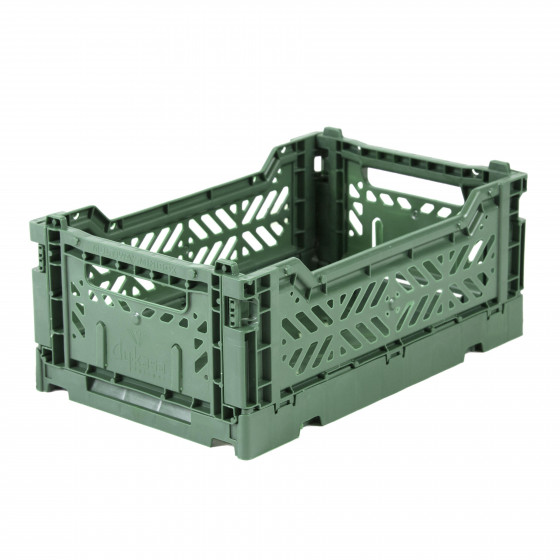 Mini Storage Box - Almond Green
