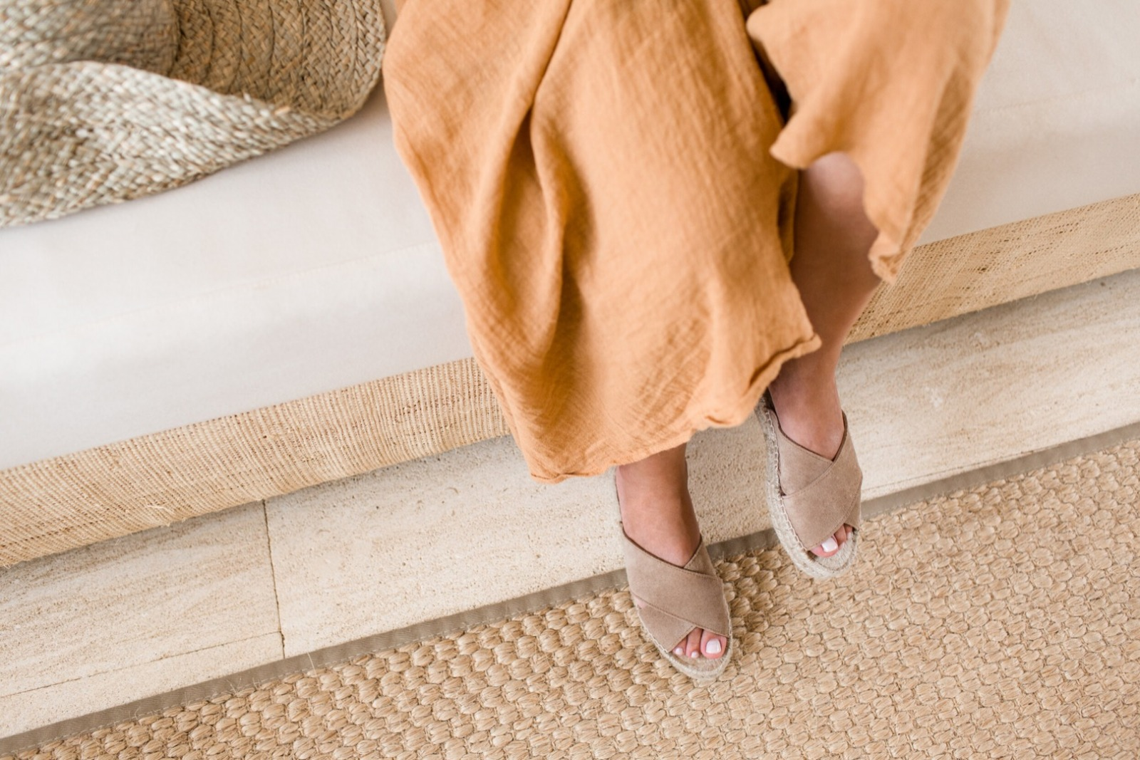 TAUPE CROSSED FLATS 3