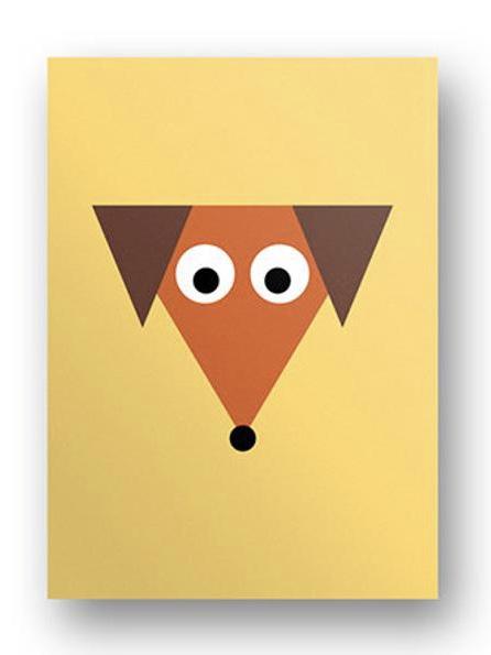 Postkarte Hund