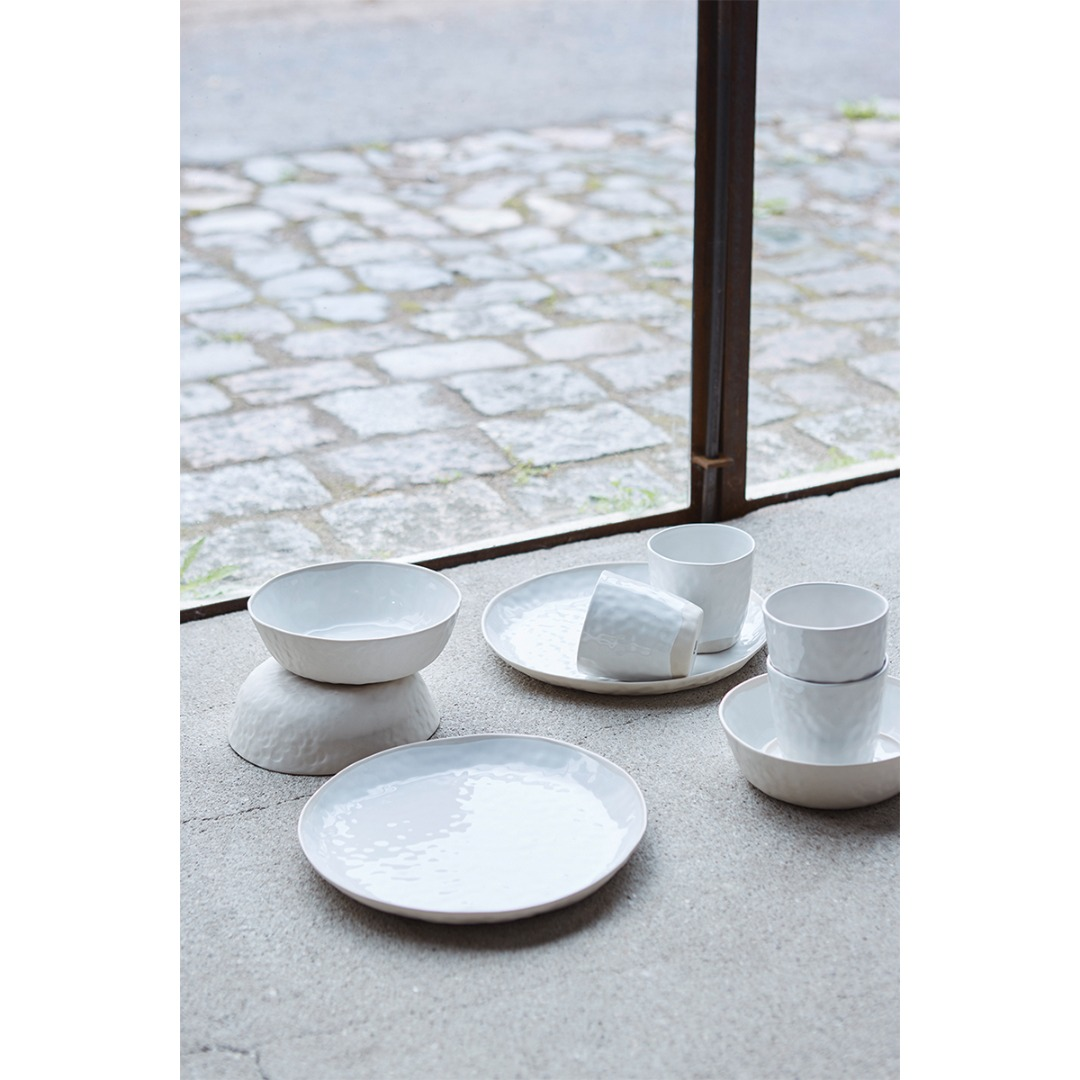 Teller BLANC Keramik weiß 25cm 2